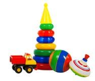 Multi brinquedos coloridos Fotos de Stock Royalty Free