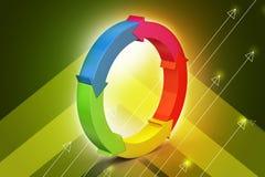 Multi círculo colorido da seta Fotos de Stock