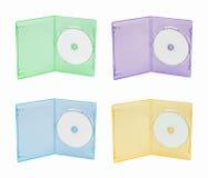 Multi caixa da cor DVD fotografia de stock royalty free