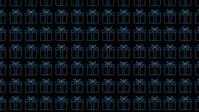 multi caixas de presente da cor no fundo preto Fundo festivo Fundo do ano novo footage ilustração do vetor
