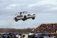 Multi car jump Royalty Free Stock Image