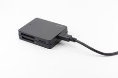 A multi card reader with usb cable Royalty Free Stock Photography