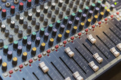 Multi Channel Sound Mixer Stock Image