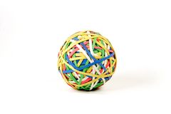 Multi-collored Rubber Band Bal Stock Image
