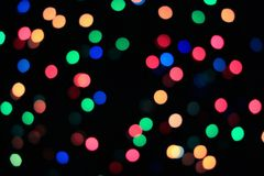 Multi-color Abstract Blurred and Bokeh Illuminated Lighting stock images