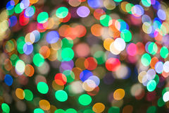 Multi color Abstract  bokeh background of Christmaslight Royalty Free Stock Image
