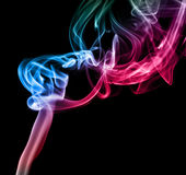 Multi Color Abstract Smoke Stock Photography