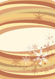 Multi color background. Multi color circles, lines and flower background with beautiful illustrated flowers over it good for print and web and Tv media Royalty Free Stock Photography
