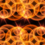 Multi-color background. Red and yellow glass bubbles Stock Photography