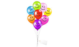 Multi color Balloons smile Stock Photography