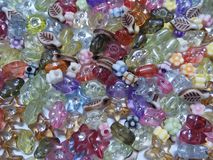 Multi-color beads background. stock photography