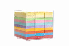 Multi color block of post-it notes Stock Photo
