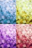 Multi color bokeh abstract background. Multi color circle bokeh abstract background Stock Photos