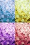 Multi color bokeh abstract background Stock Photos
