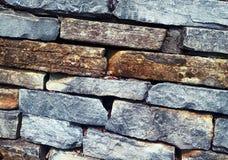 Multi-color brick wall close-up Stock Photo