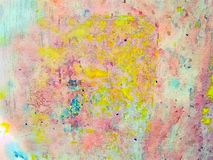 Multi-color bright abstract watercolor background with lots of texture Stock Photo