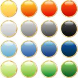 Multi color buttons Stock Image