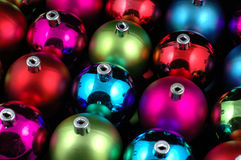Multi-color christmas balls Stock Photos