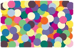 Multi color of circle put overlap to pattern. colorful of geometry shape overlay to texture. Multi color of circle put overlap to pattern. colorful of geometry royalty free illustration