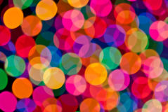 Multi-color circles background. Out-of-focus multi-color circular highlights Stock Photos