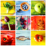 Multi color collage Stock Photos