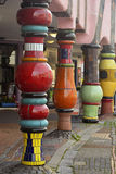 Multi-color columns supporting Grune Zitadelle Stock Photography