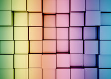 Multi color 3d cubes Royalty Free Stock Photos