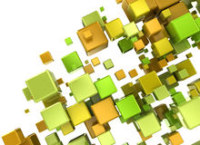 Multi color 3d cubes Royalty Free Stock Photography
