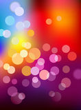 Multi color defocus light background Royalty Free Stock Photos