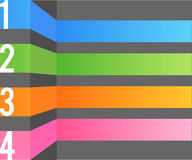 Multi color design template Royalty Free Stock Images