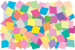 Multi color of diamond card shape put overlap to pattern. colorful of geometry shape overlay to texture. Multi color of diamond card shape put overlap to royalty free illustration