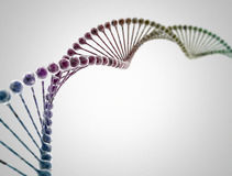 Multi color DNA string Stock Photography