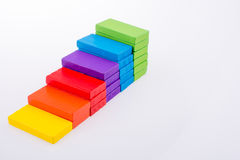 Multi color domino. On white background Stock Photos