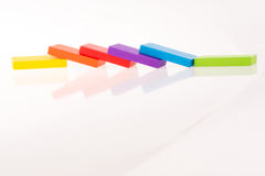 Multi color domino Royalty Free Stock Photo