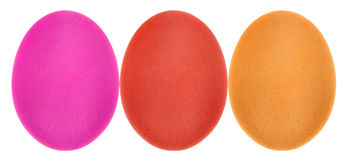 Multi color eggs Royalty Free Stock Images