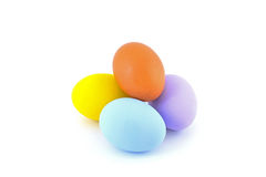 Multi color eggs isolated royalty free stock photo