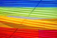 Multi color fabric. In a row Stock Photo