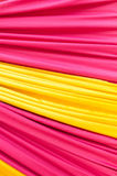 Multi color fabric in a row Royalty Free Stock Image