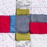 Multi color fabric texture Stock Photo