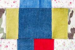Multi color fabric texture Stock Photos