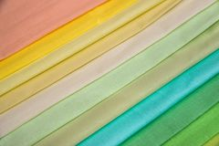Multi color fabric texture. Samples Royalty Free Stock Photo