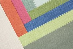 Multi color fabric texture samples Stock Image