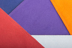 Multi color fabric texture samples Royalty Free Stock Photography