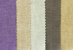 Multi color fabric texture samples Royalty Free Stock Photos