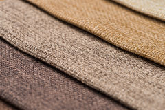 Multi color fabric texture samples Royalty Free Stock Images