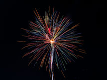 Multi Color Fireworks Display Stock Photography