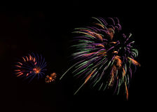 Multi-Color Fireworks Show in Moore, OK Royalty Free Stock Photos