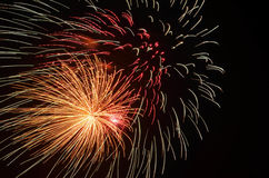 Multi-Color Fireworks Show in Moore, OK Stock Images