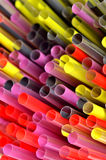 Multi Color flexible straws Stock Images