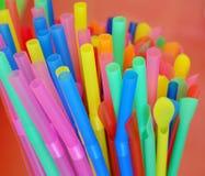 Multi Color Flexible Straws Royalty Free Stock Photo